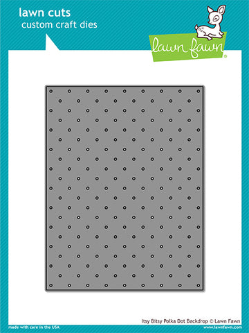 Itsy Bitsy Polka Dot Backdrop Lawn Cuts