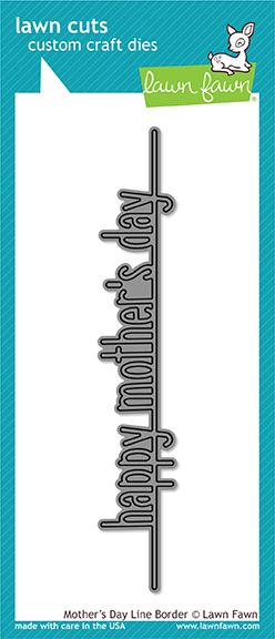 Mother's Day Line Border Die