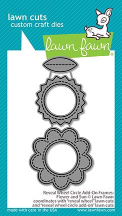Reveal Wheel Circle Add-on Frames: Flower and Sun Dies