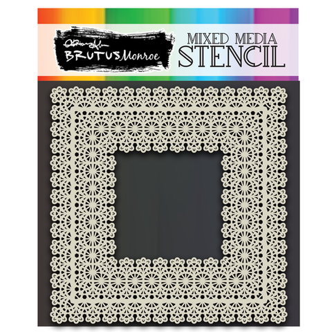 Mixed Media Stencil - Lace Trim