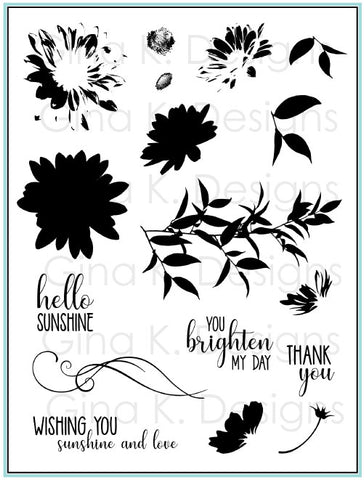 Clear Stamps Layered Daisies
