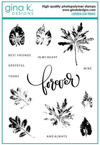 Clear Stamps Layered Leaf Prints Stamp Set