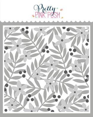 Layered Leaves & Flowers Stencil (3pk)