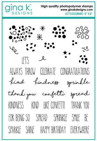 Clear Stamps - Let's Celebrate Stamp Set