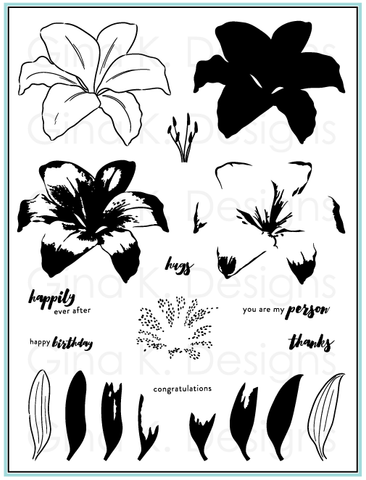 Clear Stamps Lovely Lilies