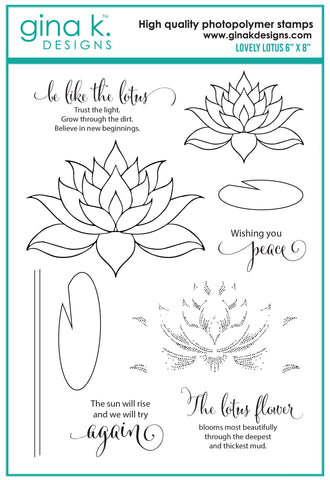 Clear Stamp - Lovely Lotus
