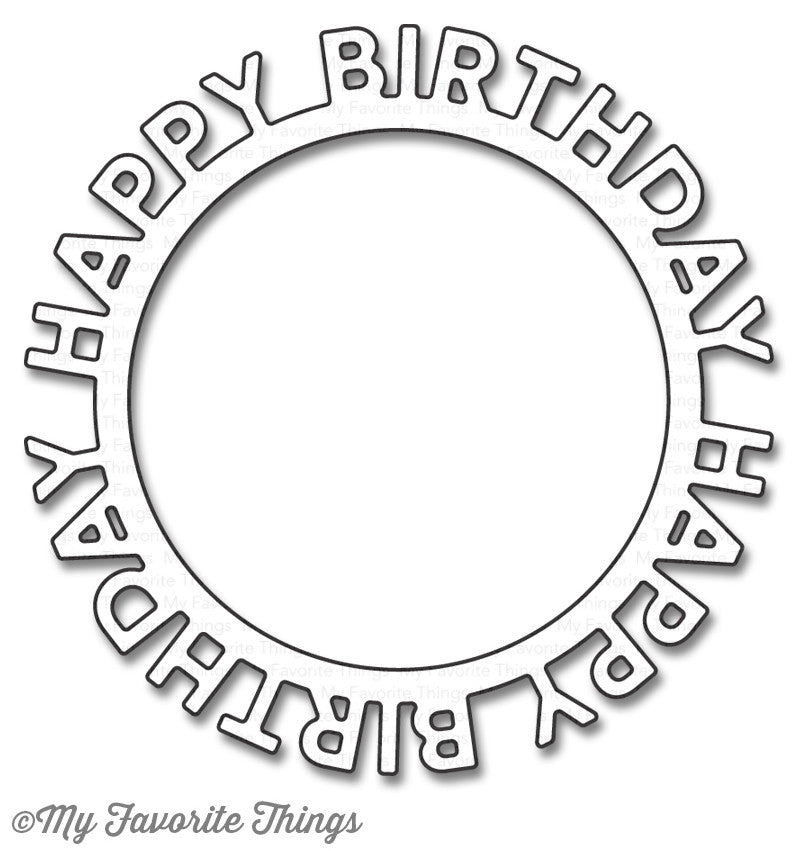 Die-namics Happy Birthday Circle Frame