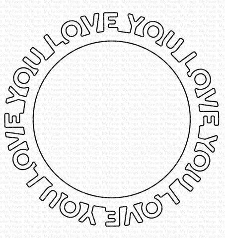 Die-namics Love You Circle Frame
