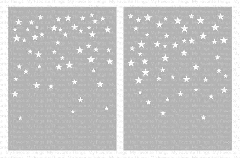 Card-sized Star Confetti Stencil Set