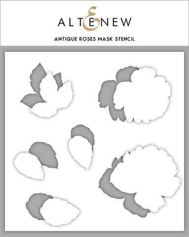 Antique Roses Mask Stencil