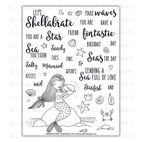 Mermaid Song Stamp Set