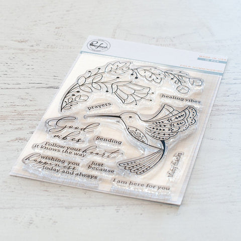 Folk Hummingbird Stamp