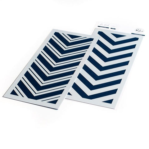 Double Chevron layering stencil set