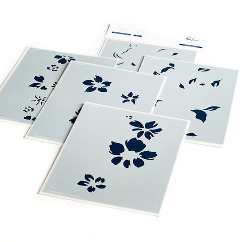 Seamless Floral Panel layered stencil set
