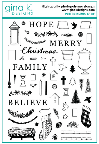 Clear Stamps Pallet Christmas Stamp Set