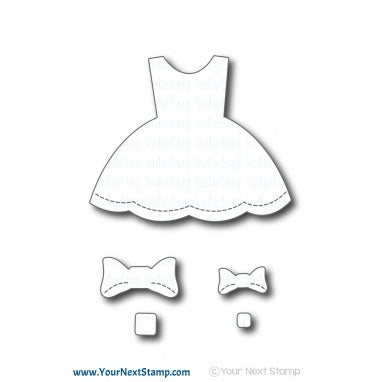 Stitched Party Dress Die Set