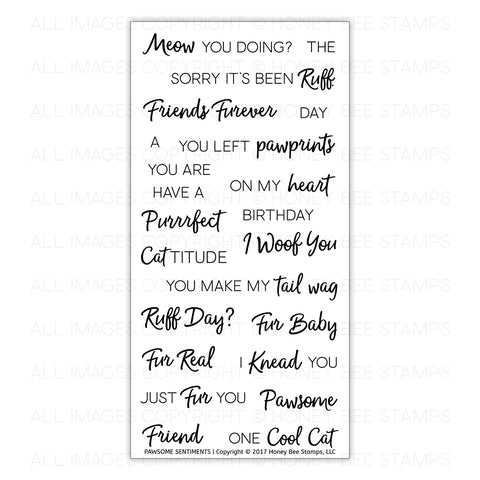 Pawsome Sentiments Stamp Set