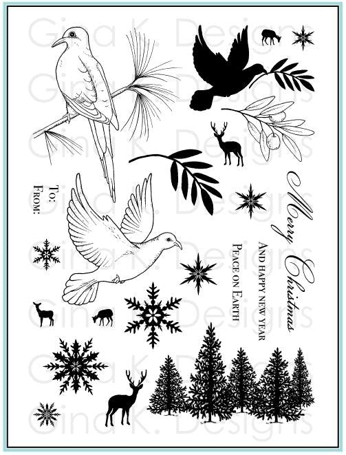 Clear Stamps Peaceful Holidays