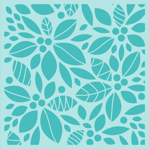 Poinsettia Background Stencil