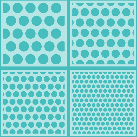 Polka Dot Background Stencils set of 4