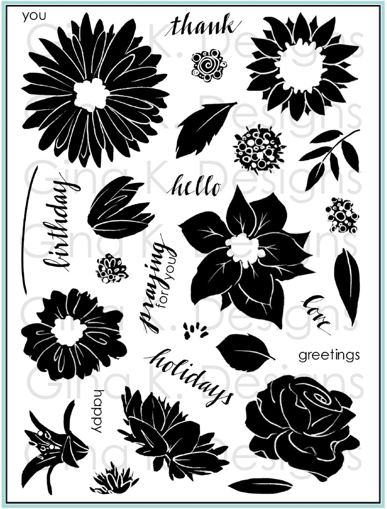 Clear Stamps Pressed Flowers 2