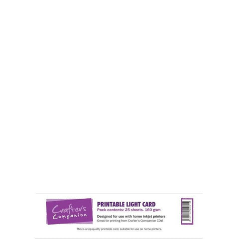 Crafter's Companion Printable Light Card - 25 sheets