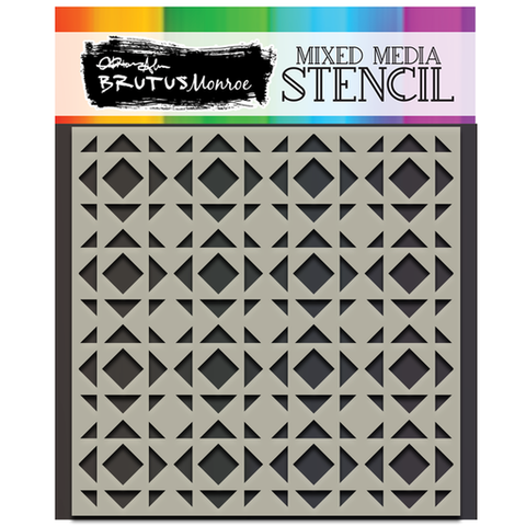 Mixed Media Stencil - Quilt Block