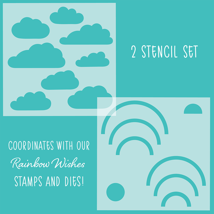 Rainbow Wishes Set of 2 Stencils