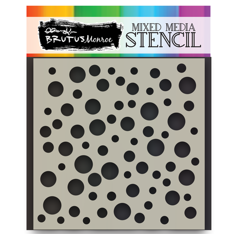 Mixed Media Stencil - Random Dots