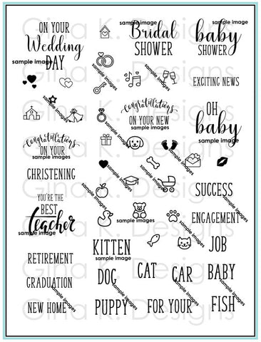 Clear Stamps Reasons To Celebrate