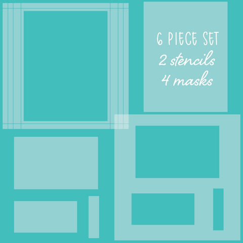 Rectangle Spotlight Stencils & Mask set of 6