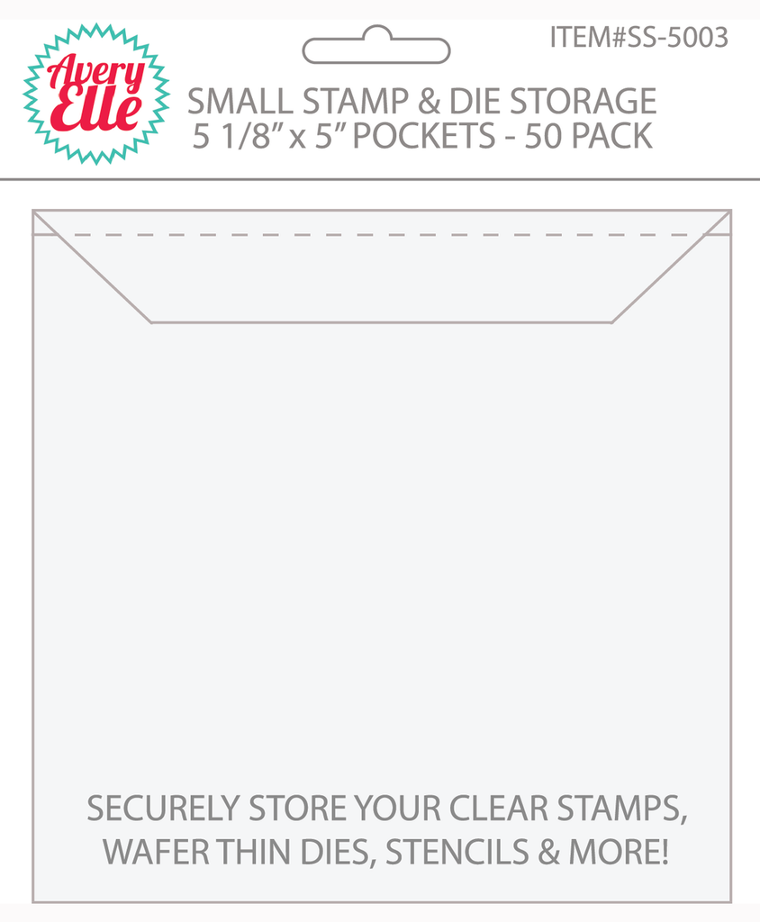 Small Stamp & Die Storage Pockets - Set of 50