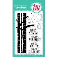 Let It Snow Clear Stamps