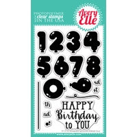 Numbered Balloons Clear Stamps