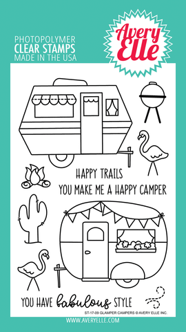 Glamper Campers Clear Stamp