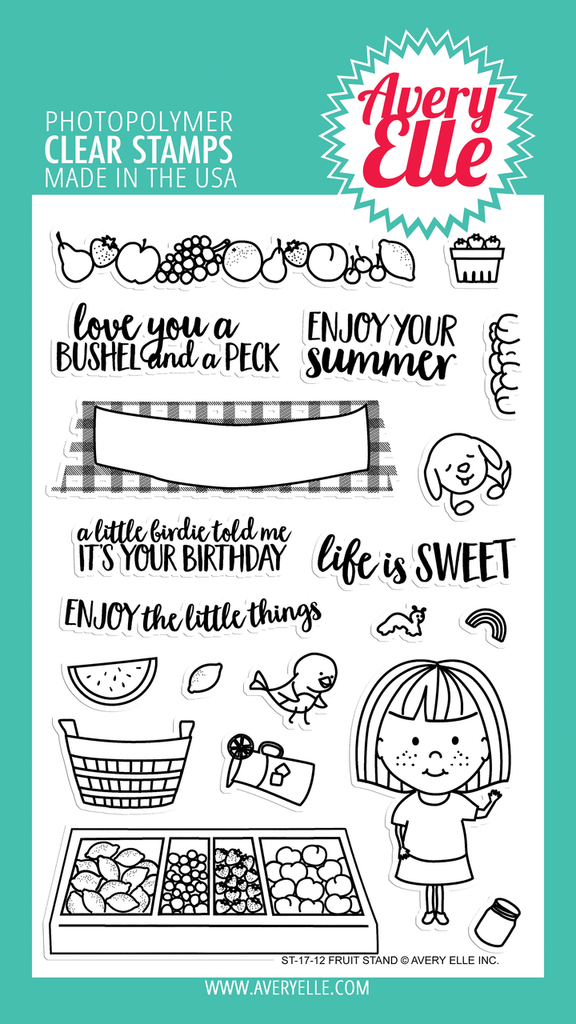 Fruit Stand Clear Stamp