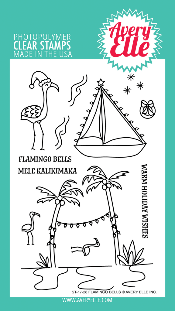 Flamingo Bells Clear Stamps