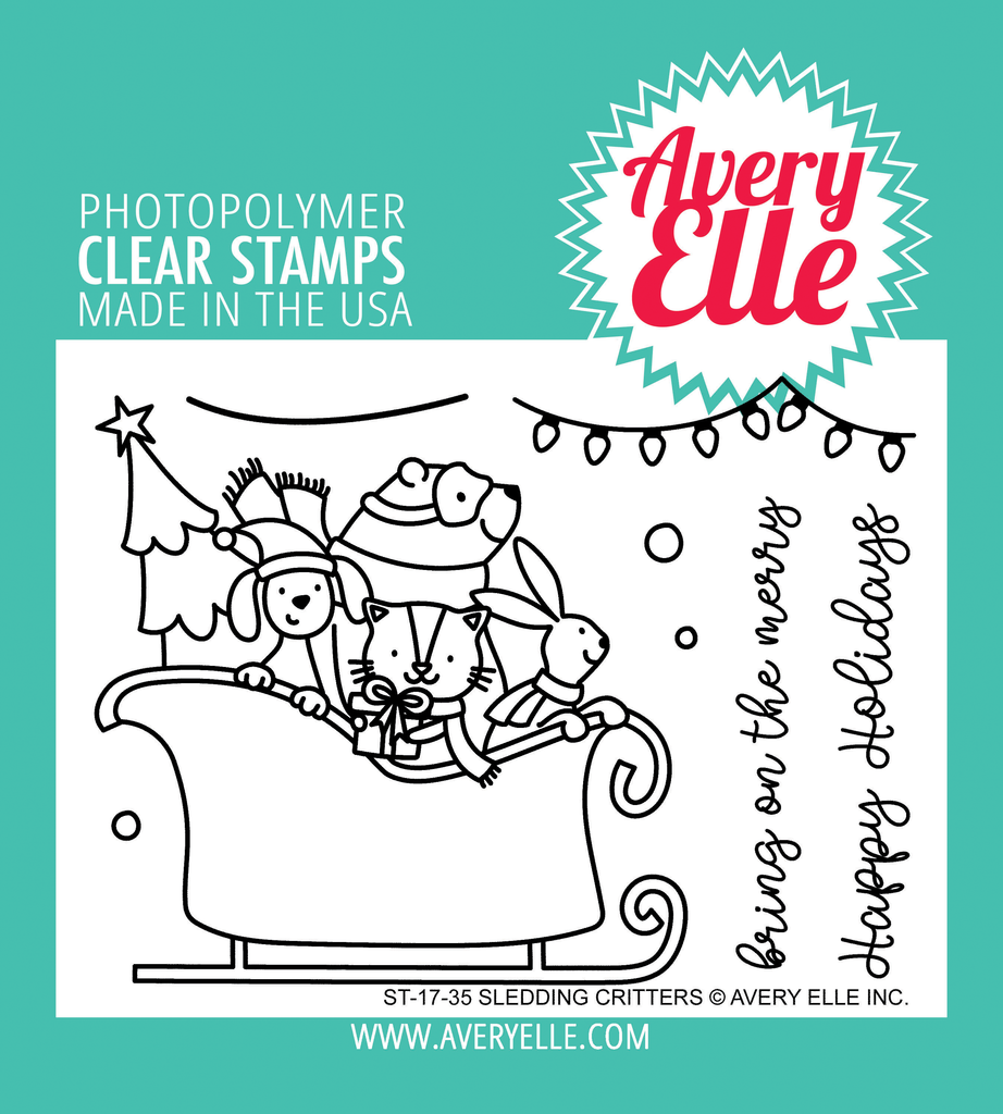 Sledding Critters Clear Stamps