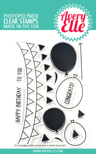 Balloons & Banners Clear Stamps