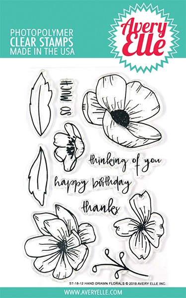 Hand Drawn Florals Clear Stamps