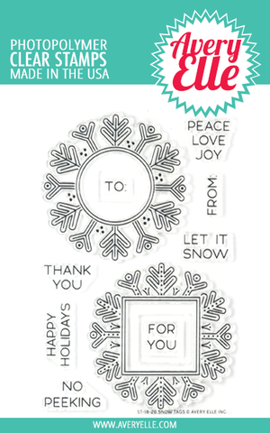 Snow Tags Clear Stamps