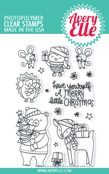 A Merry Little Christmas Clear Stamps