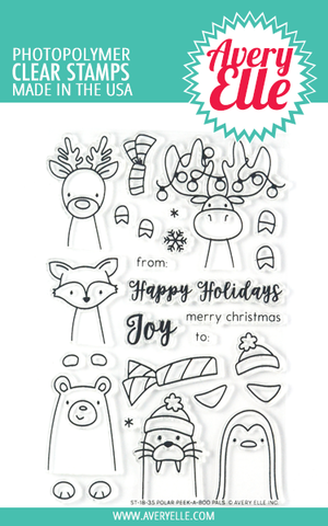 Polar Peek-a-boo Pals Clear Stamps