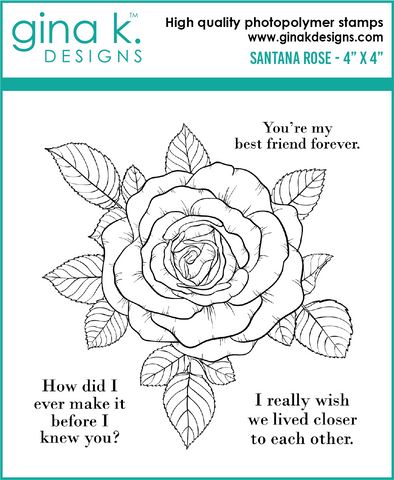 Clear Mini Stamps Santana Rose Stamp Set