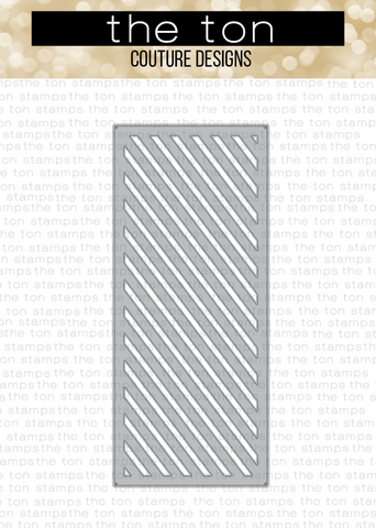 Slimline - Diagonal Stripes Coverplate Die