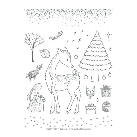 Silent Night 6x8 Stamp Set
