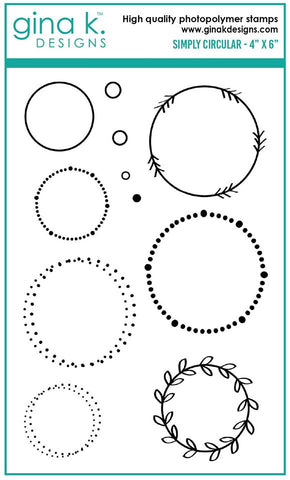 Clear Mini Stamps Simply Circular