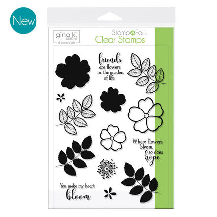 GKD Stamp & Foil Where Flowers Bloom Stamp Set