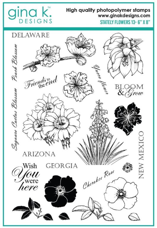 Clear Stamps Stately Flowers 13
