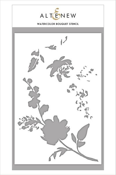 Watercolor Bouquet Stencil